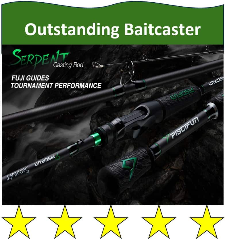 Piscifun Serpent baitcasting fishing rod for northerns